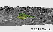 Satellite Panoramic Map of Ajdovscina, desaturated