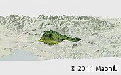 Satellite Panoramic Map of Ajdovscina, lighten