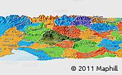 Satellite Panoramic Map of Ajdovscina, political outside