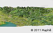Satellite Panoramic Map of Ajdovscina