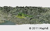 Satellite Panoramic Map of Ajdovscina, semi-desaturated
