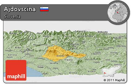 Savanna Style Panoramic Map of Ajdovscina