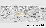Shaded Relief Panoramic Map of Ajdovscina, desaturated