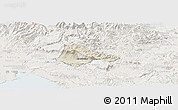 Shaded Relief Panoramic Map of Ajdovscina, lighten
