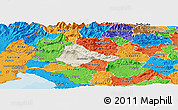 Shaded Relief Panoramic Map of Ajdovscina, political outside