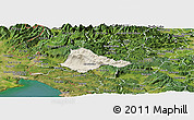 Shaded Relief Panoramic Map of Ajdovscina, satellite outside