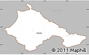 Gray Simple Map of Ajdovscina, cropped outside