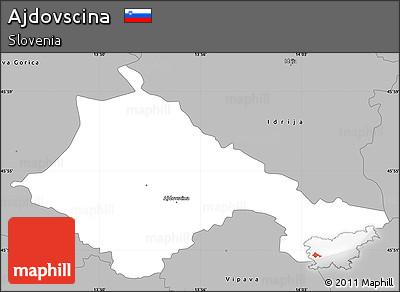 Gray Simple Map of Ajdovscina