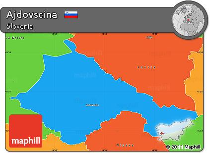 Political Simple Map of Ajdovscina
