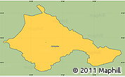 Savanna Style Simple Map of Ajdovscina, cropped outside