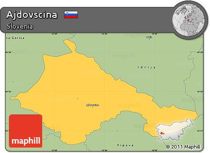 Savanna Style Simple Map of Ajdovscina