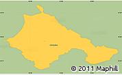 Savanna Style Simple Map of Ajdovscina, single color outside