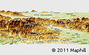 Physical Panoramic Map of Bled
