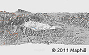 Gray Panoramic Map of Bohinj