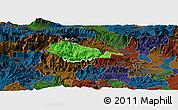 Political Panoramic Map of Bohinj, darken