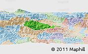 Political Panoramic Map of Bohinj, lighten