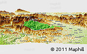Political Panoramic Map of Bohinj, physical outside