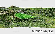 Political Panoramic Map of Bohinj, satellite outside