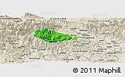 Political Panoramic Map of Bohinj, shaded relief outside