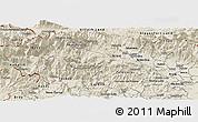 Shaded Relief Panoramic Map of Bohinj