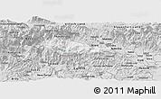 Silver Style Panoramic Map of Bohinj