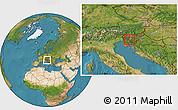 Satellite Location Map of Borovnica