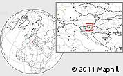 Blank Location Map of Celje