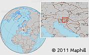 Gray Location Map of Celje