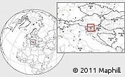 Blank Location Map of Cerklje na Gorenjskem