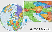 Political Location Map of Cerklje na Gorenjskem
