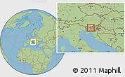 Savanna Style Location Map of Cerklje na Gorenjskem