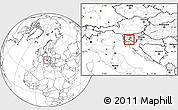 Blank Location Map of Cerknica