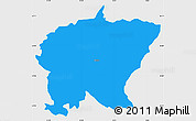 Political Simple Map of Cerkno, single color outside