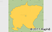 Savanna Style Simple Map of Cerkno, cropped outside