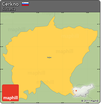 Savanna Style Simple Map of Cerkno