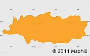 Political Simple Map of Crna na Koloskem, single color outside