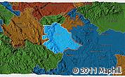 Political 3D Map of Crnomelj, darken