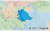 Political 3D Map of Crnomelj, lighten