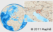 Shaded Relief Location Map of Dobrepolje