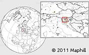 Blank Location Map of Dobrova-Horjul-Polhov Gradec