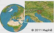 Satellite Location Map of Dobrova-Horjul-Polhov Gradec