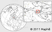 Blank Location Map of Gornji Grad