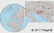 Gray Location Map of Gornji Grad