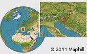 Satellite Location Map of Gornji Grad