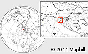 Blank Location Map of Idrija, within the entire country