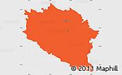 Political Simple Map of Idrija, single color outside