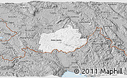 Gray 3D Map of Ilirska Bistrica