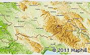 Physical 3D Map of Ilirska Bistrica