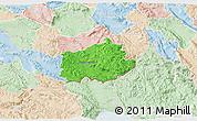 Political 3D Map of Ilirska Bistrica, lighten