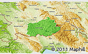 Political 3D Map of Ilirska Bistrica, physical outside